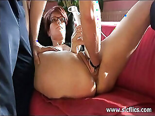 Mistress demands slave to lick her ass as excited as he can get